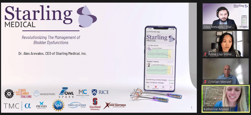 Starling Medical, third place winner at the MedTech pitch competition.